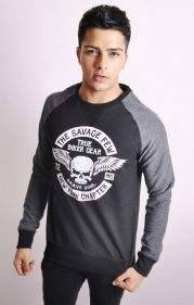 Raglan Sweatshirt With Graphic Front